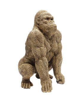 Deco Figurine Gorilla Gold 46cm