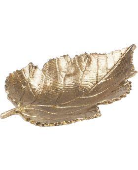 Deco Bowl Leaf Gold Small
