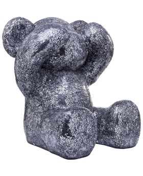Deco Figurine Crystal Bear Silver