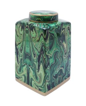 Deco Jar Malachite 42cm
