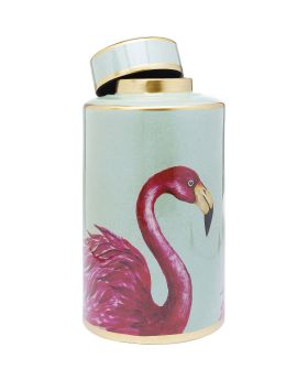 Deco Jar Flamingos 39cm