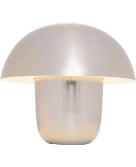 TABLE LAMP MUSHROOM CHROME SMALL (EXCLUDING BULB)