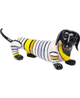 Deco Figurine Sausage Dog Stripe 53cm