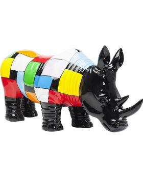 Deco Figurine  Rhino Colore