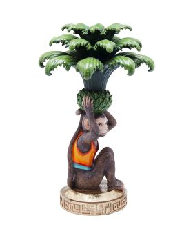 Candle Holder Monkey Palm