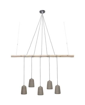 Pendant Lamp Dining Concrete Cinque (Excluding Bulb And Socket)