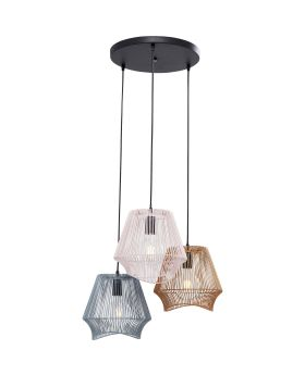 Pendant Lamp Ischia Spiral Tre (Excluding Bulb And Socket)