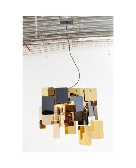 PENDANT LAMP CITY NIGHTS SQUARES (EXCLUDING BULB AND SOCKET)