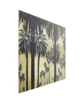 Picture Glass Metallic Palms 120x80cm