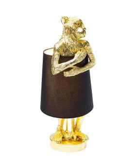Table Lamp Animal Monkey Gold Black (Excluding Bulb)