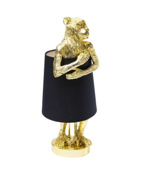 Table Lamp Animal Monkey Gold Black (Excluding Bulb)