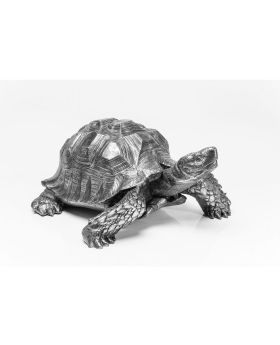 Deco Figurine Turtle Silver Big