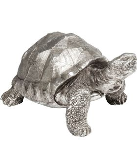 Deco Figurine Turtle Silver Medium