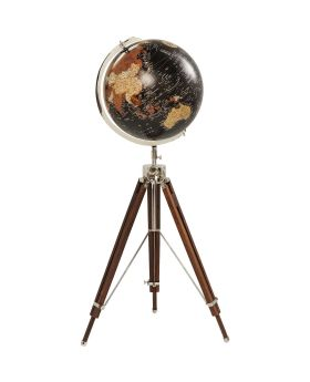 Deco Globe Earth Black