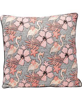Cushion Flamingo Flowers 45X45Cm