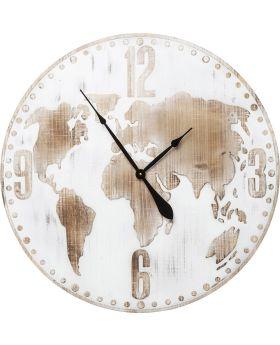 Wall Clock Antique World White Ø80cm