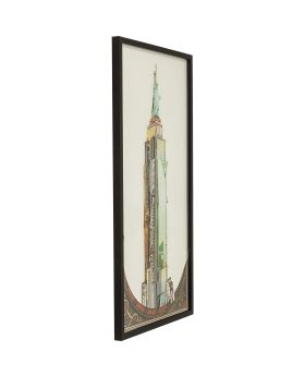 Picture Frame Art Empire State Building 100x50cm