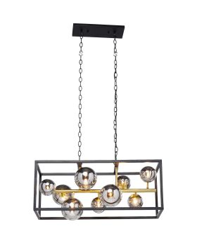 HANGING LAMP BALLOON CUBE 45X75CM (EXCLUDING BULB AND SOCKET)