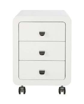 White Club Storage Container 3 Drawers