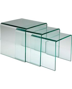 Clear Club Nest Of 3 Tables