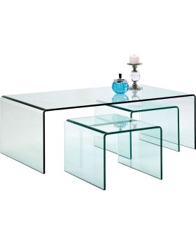 Coffee Table Clear Club (3/Set)