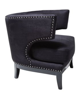 Armchair Art Deco Black
