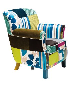 Armchair Patchwork Stripes