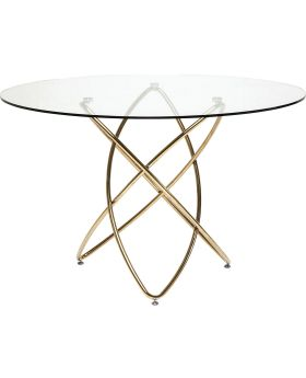 Table Molekular Gold Ø120cm