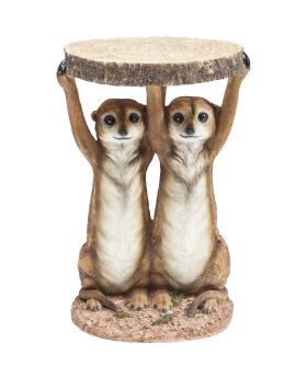 Side Table Animal Meerkat Sisters Ø33c