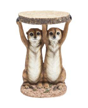 Side Table Animal Meerkat Sisters Ø33c
