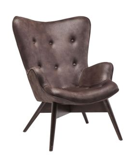 Armchair Angels Wings Black Brown Eco