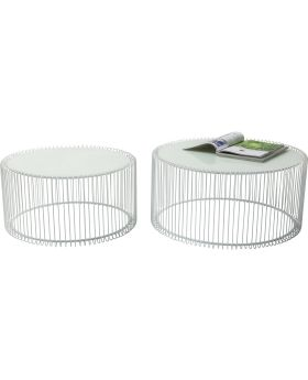 Coffee Table Wire White (2/Set)