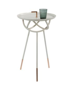 Side Table Elegance Atomo White Ø41cm