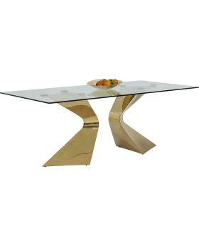 Table Gloria Gold 200x100cm