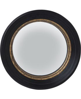 Mirror Convex Black Ø65cm