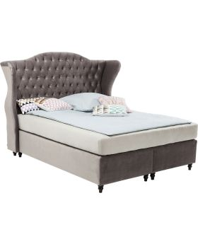 Boxspring Bed City Spirit Silver Grey 180x200cm