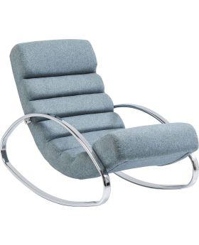 Rocking Chair Manhattan Fabric Blue