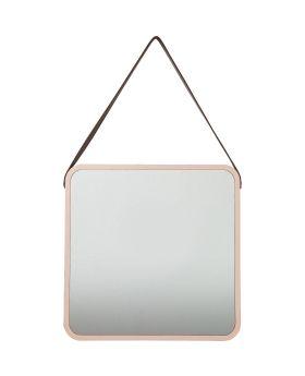 Mirror Salute Square Copper 40x40cm