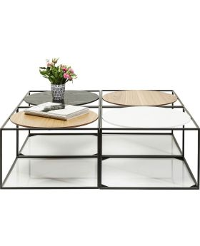 Coffee Table Quattro Circles 100x100cm