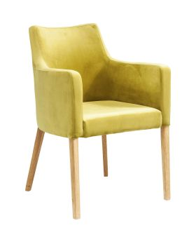 Chair with Armrest Mode Velvet Green