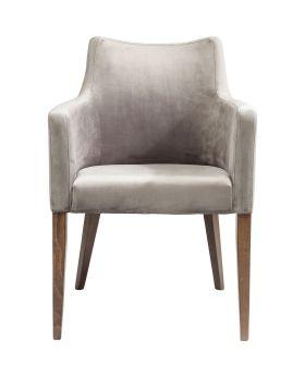 Chair with Armrest Mode Velvet Grey