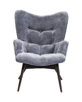 Armchair Vicky Velvet Grey