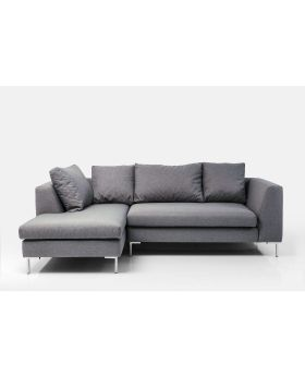 Corner Sofa Gianni Small Grey Left