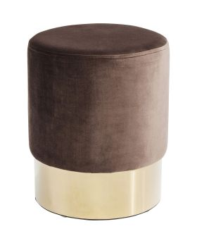 Stool Cherry Brown Brass  Ø35cm