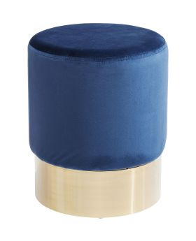 Stool Cherry Blue Brass  Ø35cm