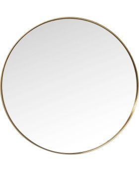 Mirror Curve Round Brass Ø100cm