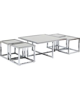 Coffee Table Quad Silver 80x80cm (5/Set)