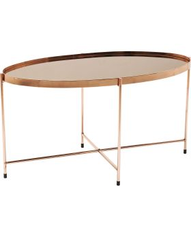 Coffee Table Miami Oval Rosegold 83x40cm