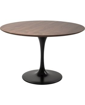 Table Top Invitation Round Walnut 120cm