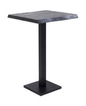 Bar Table Black Nature Walnut 70x70cm